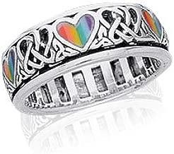 peace spinner ring