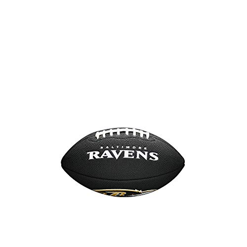 NFL Team Logo Mini Football, Black - Baltimore Ravens