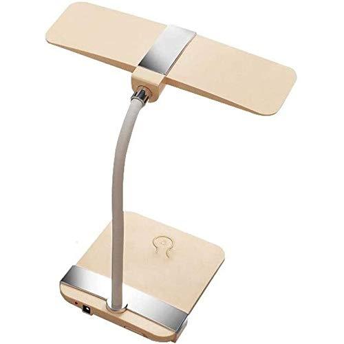 Lqp-taiden Protección for los ojos minimalista moderna lámpara de mesa, sin pasos de atenuación, regulador táctil Mesita de luz de la lámpara, cuello de cisne, recargable, plegable, flexible lámpara d