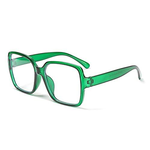 YOUQU Gafas Luz Azul,Anti-Radiación,Anti Fatiga Ocular,Unisex Anti Luz Azul Protección Ocular Nerd Reading Eyeglasses (Duerme Mejor),Verde
