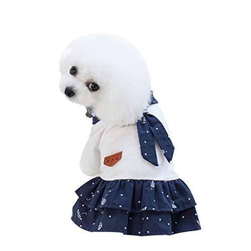 Ropa para Mascotas, Dragon868 Vestidos de Verano para Perros Pequeños Ropa de Gato Mascotas Camisa Informal Vestido con Estampado de Estrellas Vestido de Fiesta de Doble Capa