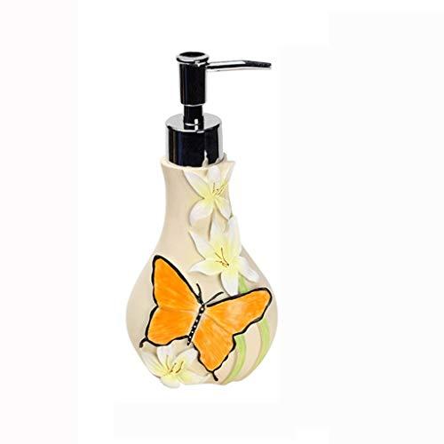 WGGTX Dispensador de jabón para Ducha Dos Creativa en uno de cerámica Dispensador de jabón de baño y jardín Productos de Novia Nuevo desinfectante de la Mano de Botella Loción Soap Box Hotel, Aseo