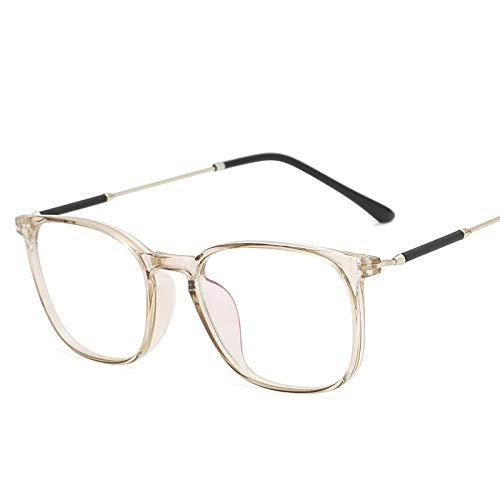 FRGTHYJ leesbril met blauw licht, vierkant, ultralicht, voor UV-bescherming, anti-glare TR90, licht