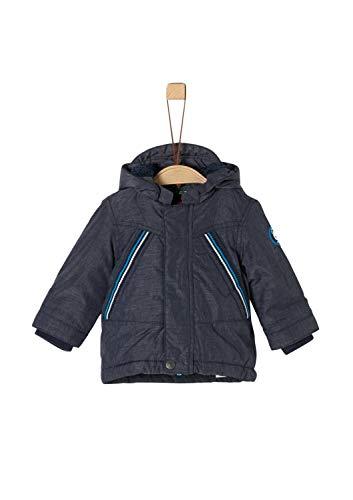 s.Oliver Baby-Jungen 59.909.52.8049 Mantel, Blau (Dark Blue Melange 59w1), (Herstellergröße: 80)