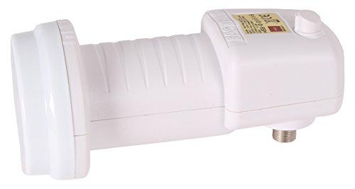 Opticum Easyfind Universal LNB (mit integrierter Easy-Find-Satfinder-Farb-LED) Weiß