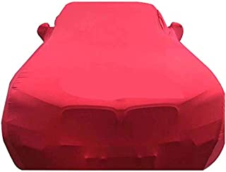 WYZXR Car Cover Rainproof, Windproof, Dustproof, UV Resistant, Non-Flammable Elastic Cloth Cover, Suitable for Audi Models (Color : Red, Size : Audi RS7)