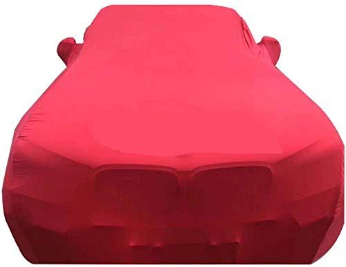 ZGYQGOO Copriauto in Tessuto Elastico Antipioggia, Antivento, Antipolvere, Resistente ai Raggi UV, Non infiammabile, Adatto per Modelli Audi (Colore: Rosso, Dimensioni: Audi Q3)