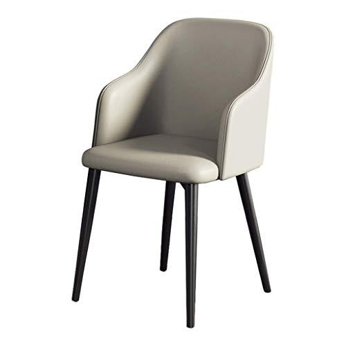 ZSM Cocina Sillas Moderno Salón Dormitorio sillas de salón Comedor con apoyabrazos (imitación de Cuero de los Asientos y respaldos) YMIK (Size : Gray)