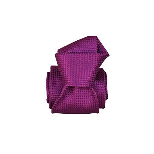 Segni et Disegni. Cravate artisanale. Confection main, Soie. Violet, Uni. Fabriqué en Italie.