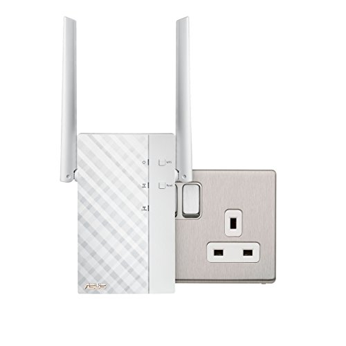 ASUS RP-AC56 Dual-Band Wireless-AC1200 Rotatable Wall-Plug...