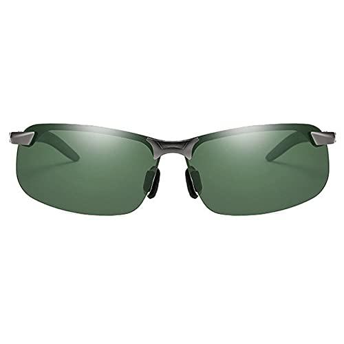 Gafas de sol polarizadas de luz para adultos, marco plateado, protección UV, adecuado para ciclismo, correr, viajes, playa, pesca, bronce