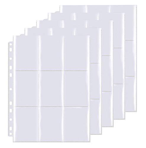 540 Pockets Sammelkarten, Taschen auf beiden Seiten jeder Seite, 30 Seiten, 540 Taschen, Hochtransparentes Sammelkartenzubehör Aus sicheren und haltbaren Materialien