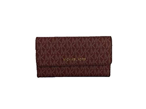 Michael Kors Jet Set Travel Large Trifold Wallet - Oxblood
