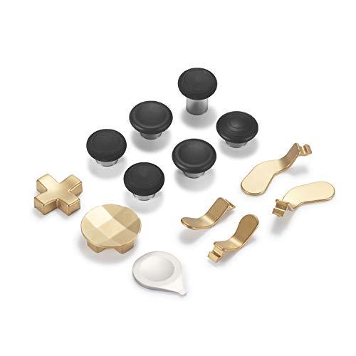 Supremery Xbox One Elite Wireless Controller Series 2 Sticks Buttons Paddles Knöpfe Zubehör Ersatzteile aus Aluminium - 12 Teiliges Set Gold