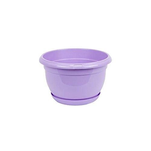 Pot de fleur plastique Malta 17 cm lilas avec twist soucoupe