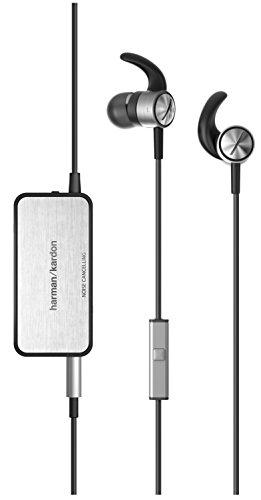 Harman/Kardon SOHO II NC In-Ear Kopfhörer mit Aktiver Geräuschunterdrückung und 1-Tasten-Fernbedienung/Mikrofon - Schwarz/Silber