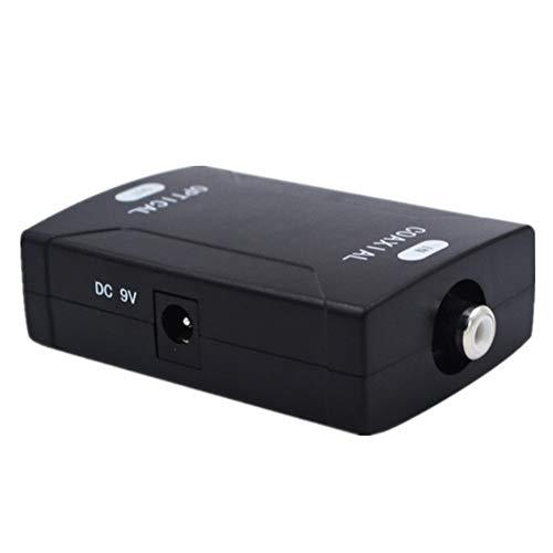 Timagebreze Adaptador Convertidor de Audio Digital Coaxial RCA una óPtico TOSlink SPDIF Compatible con Dolby 5.1 y DTS Sound-EU Plug