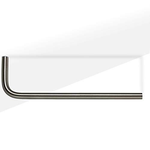 Garderobenstange NORMA L-Form 450 mm Ø 12 mm Kleiderbügelhalter Garderobenbügel von SO-TECH®