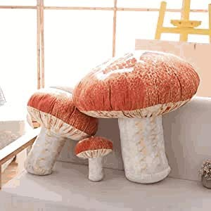 YIDAINLINE 3D Mushroom Throw Pillow Funny Food Pillow Creative Plush Toys 20cm 3D Digital Print...
