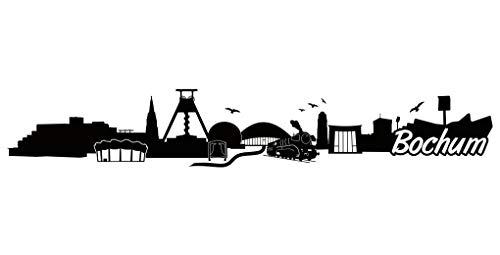 Samunshi® Bochum Skyline Aufkleber Sticker Autoaufkleber City Gedruckt in 7 Größen (100x16,7cm schwarz)