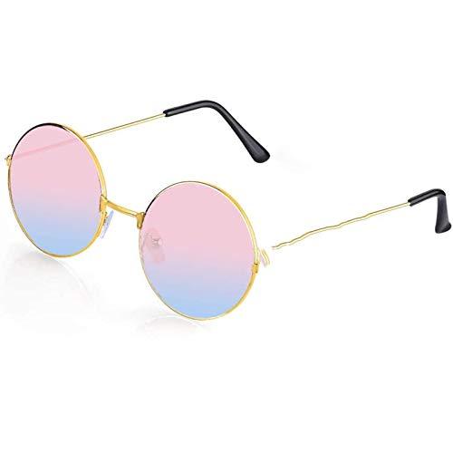 2 paar hippie bril zonnebril retro hippie-stijl zonnebril Hippie kledingskostuum gekke zonnebril mannen vrouwen glazen,Pink