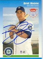Bret Boone Seattle Mariners 2002 Fleer Platnium Autographed Card - Nice Card. This item comes with a certificate of authenticity from Autograph-Sports. Autographed - Baseball Slabbed Autographed Cards