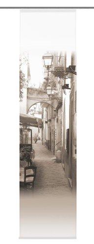 Home Fashion 86453-721 Schiebevorhang Digitaldruck Salerno, Sand / 245 x 60 cm Dekostoff-Seidenoptik