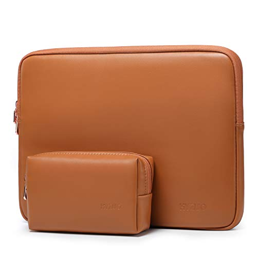 HYZUO 13 Inch Laptop Sleeve Case Compatible with 2020 2019 2018 MacBook Air 13 A2179 A1932/ MacBook Pro 13 2016-2020/ iPad Pro 12.9 2018 2020/ Dell XPS 13/ Surface Pro X 7 6 5 4 3, Brown13 Inch