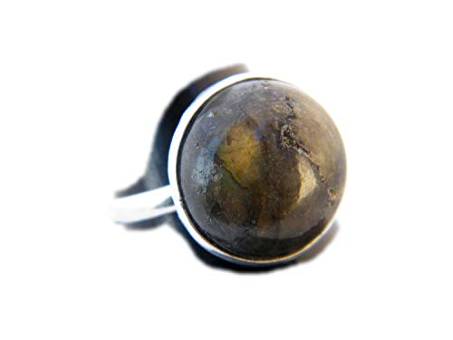 The Best Jwelley Labradorite Ring, Silver Plated Ring, Handmade Ring, Women Jewelry, Gemstone Ring (Size- 8 USA) BRS-2742