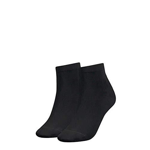 Tommy Hilfiger TH Women Casual Short Sock 2P Calzini, Nero (Black 200), 35-38 (Pacco da 2) Donna