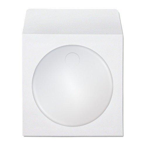 100 CD Papierhüllen mit Fenster & Klappe Verbraucher tragbaren Elektrogeräte/Geräte