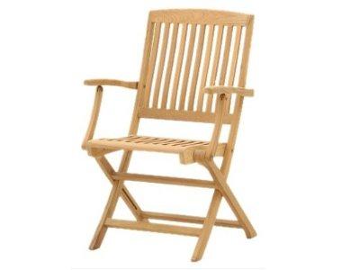 Atlanta Teak Furniture - Teak Folding Arm Chair - Grade-A