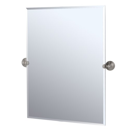 Gatco 4369S Charlotte Rectangular Wall Mirror, Satin Nickel