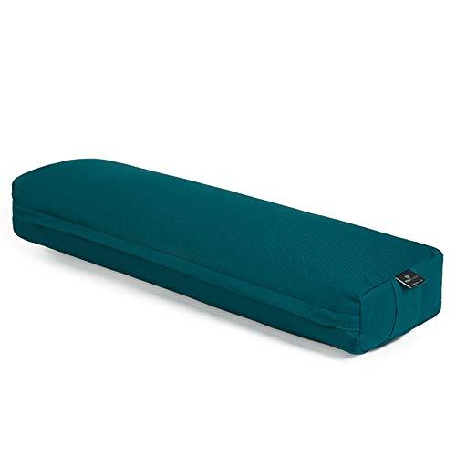 Yoga Studio EU Pranayama Bolster - 18cm x 63cm x 10cm Teal Recron Meditation Bolster for...