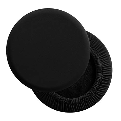 LUSHVIDA Round Bar Stool Covers - Super Soft and Washable Elastic Stool Cushion Slipcover for Dia.12-14
