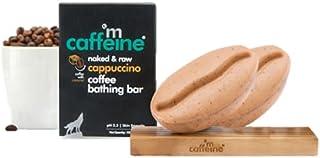 mCaffeine Naked & Raw Cappuccino Coffee Bathing Bar Soap (Pack Of 2) | Polishing & Toning | Caramel, Almond Milk | Ph 5.5,...