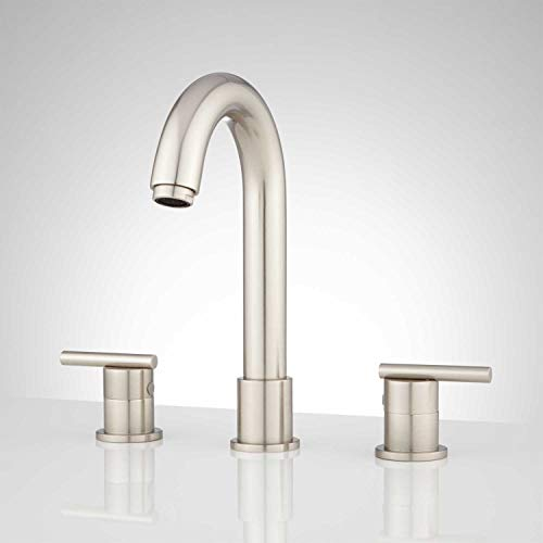 Signature Hardware 932623 Lester 1.2 GPM Widespread Bathroom Faucet with Drain Assembly