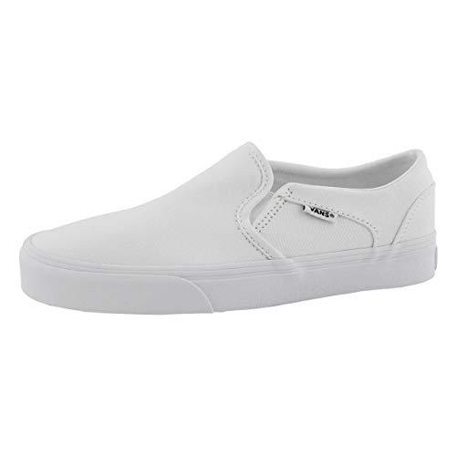 Vans Women's Asher Low Slip On Sneaker Wht/Wht 9.5 Medium US