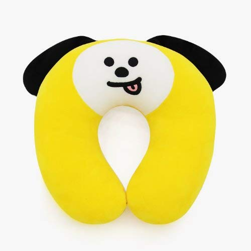 BTS Official Character Edition Kpop BTS Emoji by Line Friends - Travel Neck Pillow- Soft Comfortable Neck Pillow for Travel Office and Home (CHIMMY)