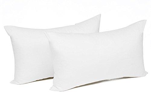 WOLTU® KB5149wsQ2, 2X Kissenbezug Kissenhülle 100% Baumwolle mit Reissverschluss, 2er Set Sofakissen Dekokissen Kissen Bezug, Kopfkissen Hülle Bezüge Doppelpack, 50x70 cm, Weiß