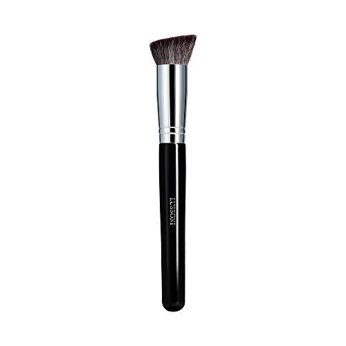 T4B LUSSONI 300 Series Pinceaux Maquillage Professionnel Pour Bronzeurs, Enlumineurs, Fards A Joues, Blush, Poudres Et Contouring, En Forme Ronde Et Coudée (PRO 324 Pinceau contour angulaire)