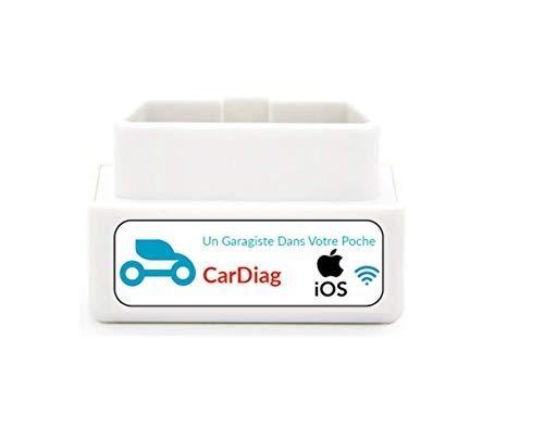 CarDiag unità di diagnostica automobilistica multimarca (WiFi), Compatibile con l applicazione Gratuita su iPhone, per rilevare i guasti e spegnere la Luce del Motore