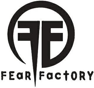 WHITE FEAR FACTORY BAND LOGO VINYL DECAL STICKER