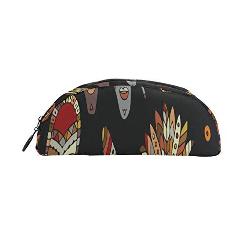 Farbige Federmäppchen Retro National Tribal Indian Mask Federbeutel Organizer Federmäppchen Tasche Reißverschluss Für Studenten Klasse Kinder Junge Mädchen Schule Federmäppchen Für Frauen