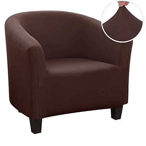 WINS Funda de Sillón Chesterfield Elástica Funda de Sofa 1 Plaza Tub Chair Cover Funda para sillón Club Fundas tullsta Silla de cóctel Lavable marrón