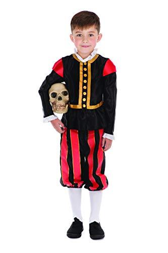 Bristol Novelty (L Disfraz de William Shakespeare, color edad: 8 a 10 aos, 8-10 aos (CF198)
