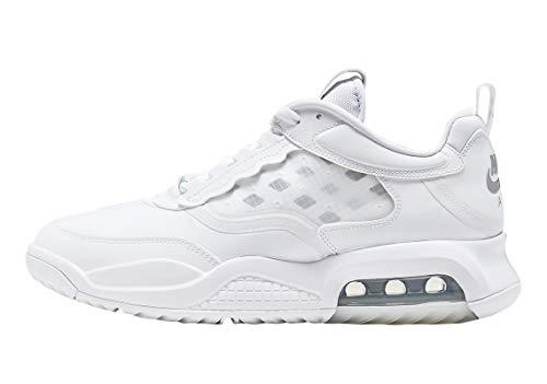 Jordan Men's Shoes Nike Air Max 200 Pure Money CD6105-101 (Numeric_11) White/Metallic Silver