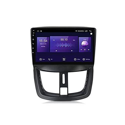 Android Radio De Coche Bluetooth para Peugeot 207 2006-2015 con Cámara De Visión Trasera Autoradio Apoyo Llamadas Manos Libres FM Radio 1080P Video WiFi Carautoplay Dab+,4g+64g