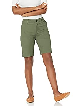 Amazon Essentials Women s 10 Inch Inseam Bermuda Chino Short Olive 12