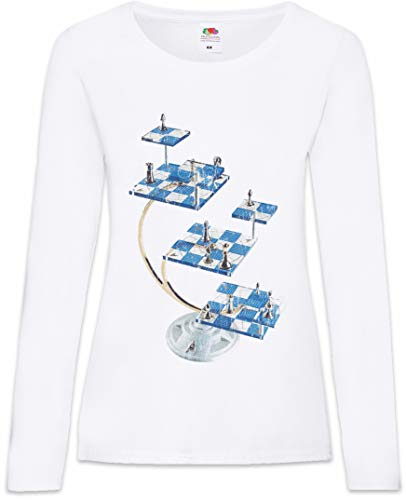 Urban Backwoods Star Chess Women T-Shirt Mujer Camiseta de Manga Larga Blanco Talla XS